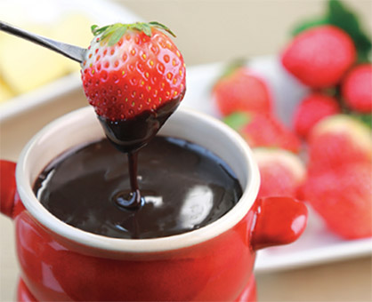 Brandied Chocolate Fondue