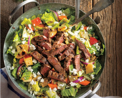 Chopped Grilled Steak Salad