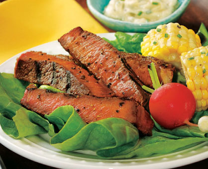 Grilled Sirloin Steak with Roadhouse Herb Butter
