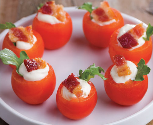 Mini BLT Tomato Cups