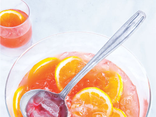 Orange-Cranberry Sparkling Punch