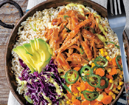 Slow Cooker BBQ Pulled Pork Bowl