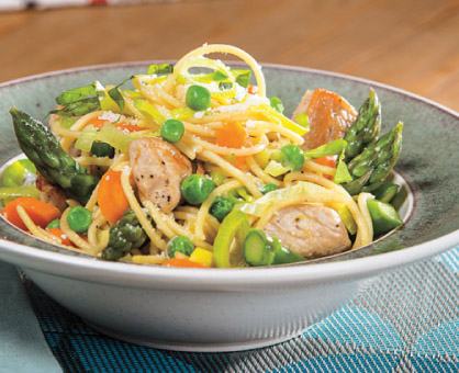 Spring Pasta Primavera with Turkey