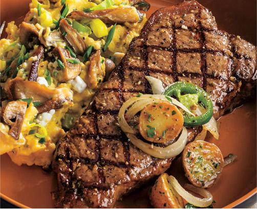 Grilled Marinated Strip Steak