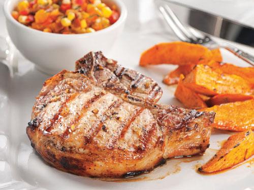 Lager-Marinated Grilled Pork Chops