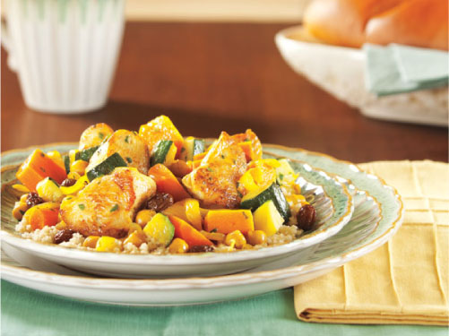Moroccan Chicken Stew with Couscous