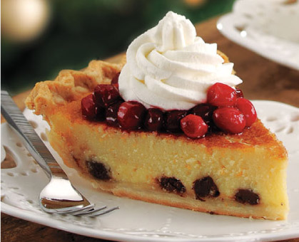 Orange-Buttermilk Pie with Cranberry Topping