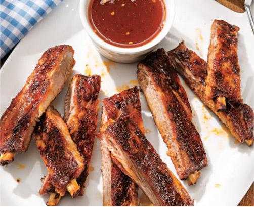 Smoked Baby Back Ribs with Honey-Orange BBQ Glaze