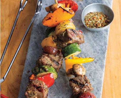 Steak & Veggie Kabobs