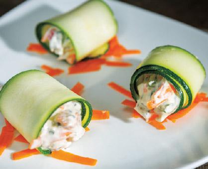 Zucchini-Veggie Rolls